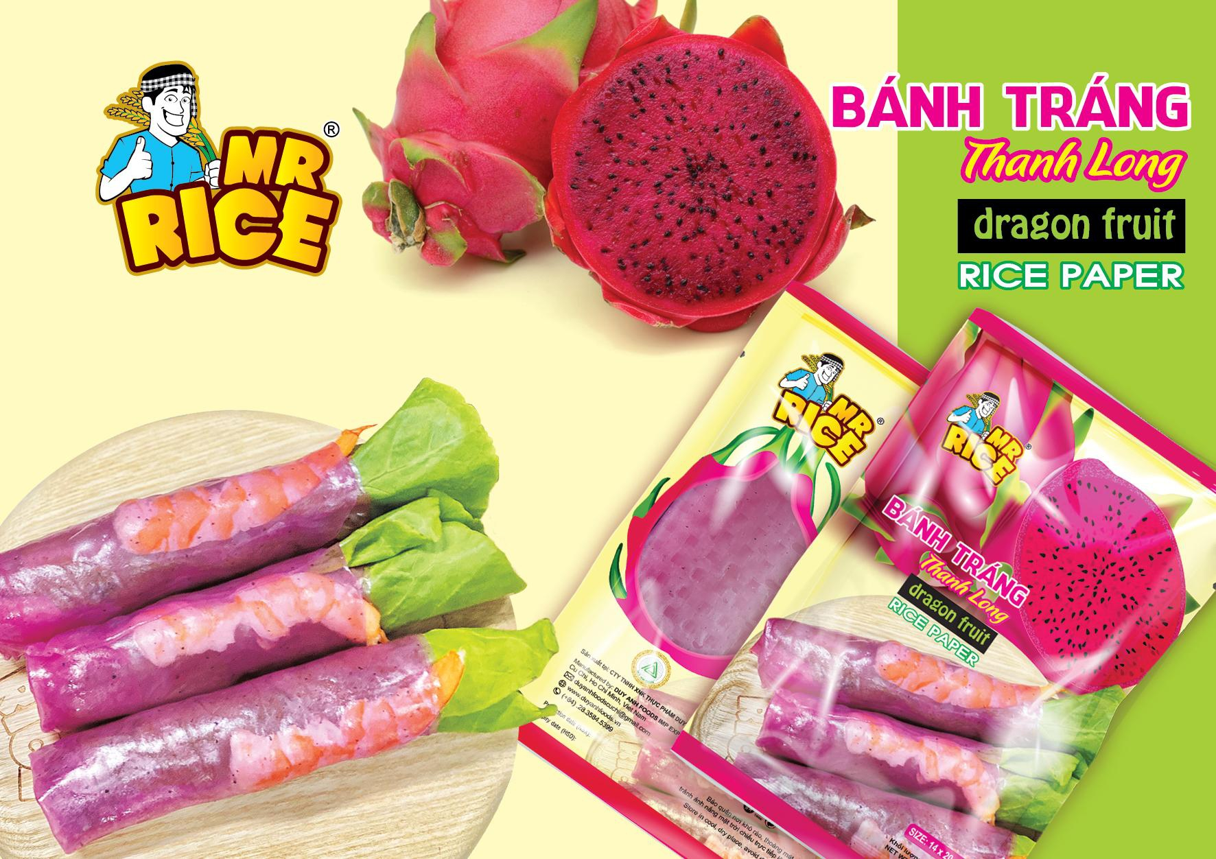 Dragon Fruit Rice Paper - Mr Rice - A Special Product of Duy Anh Foods