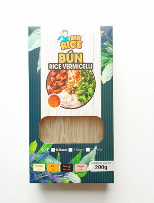 RICE VERMICELLI - PAPER BAG PACKAGING  MR RICE BRAND - SIZE 1MM - 200G