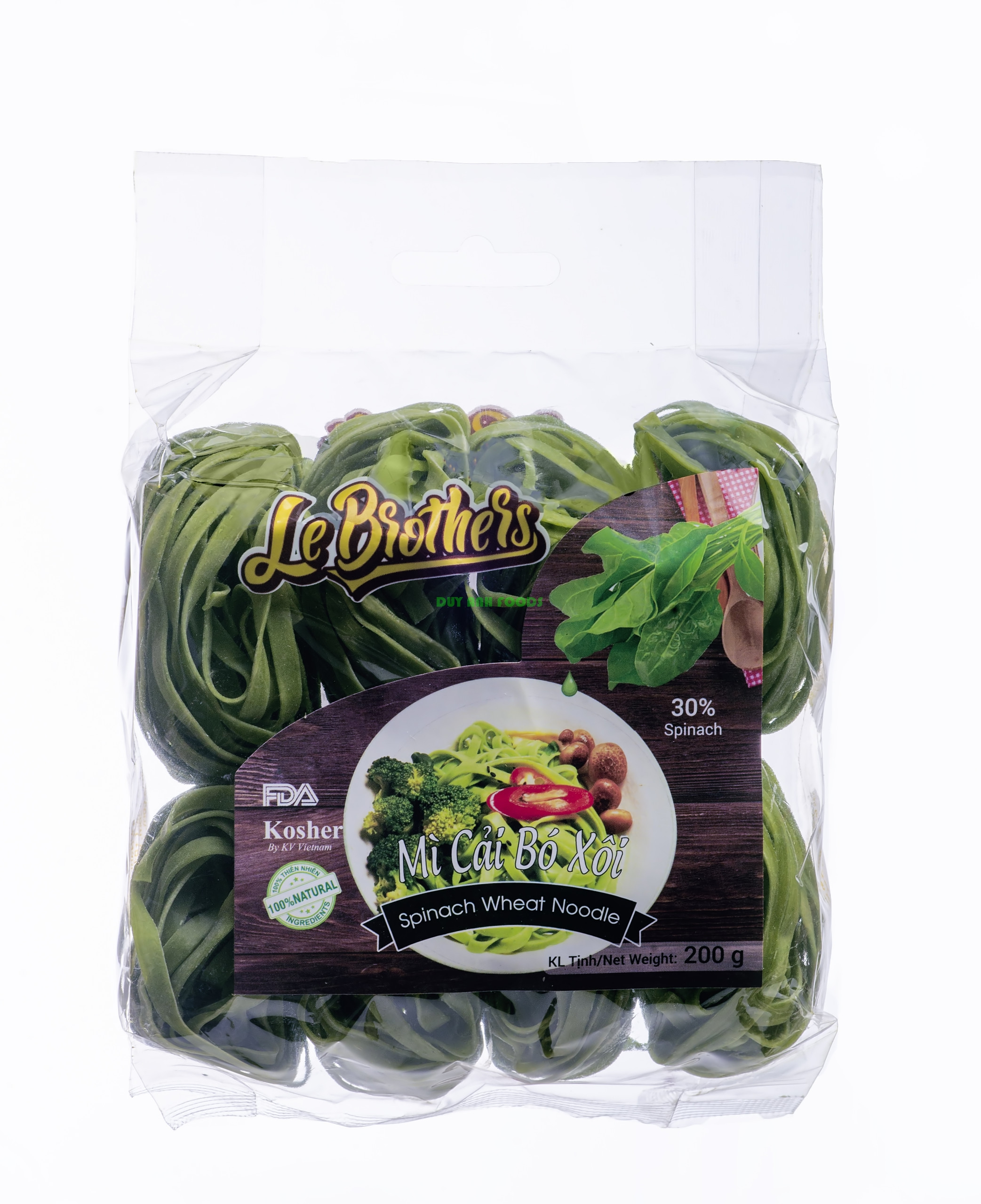 Spinach Wheat Noodle - VEGETABLES WHEAT NOODLE - NATURAL NOODLE