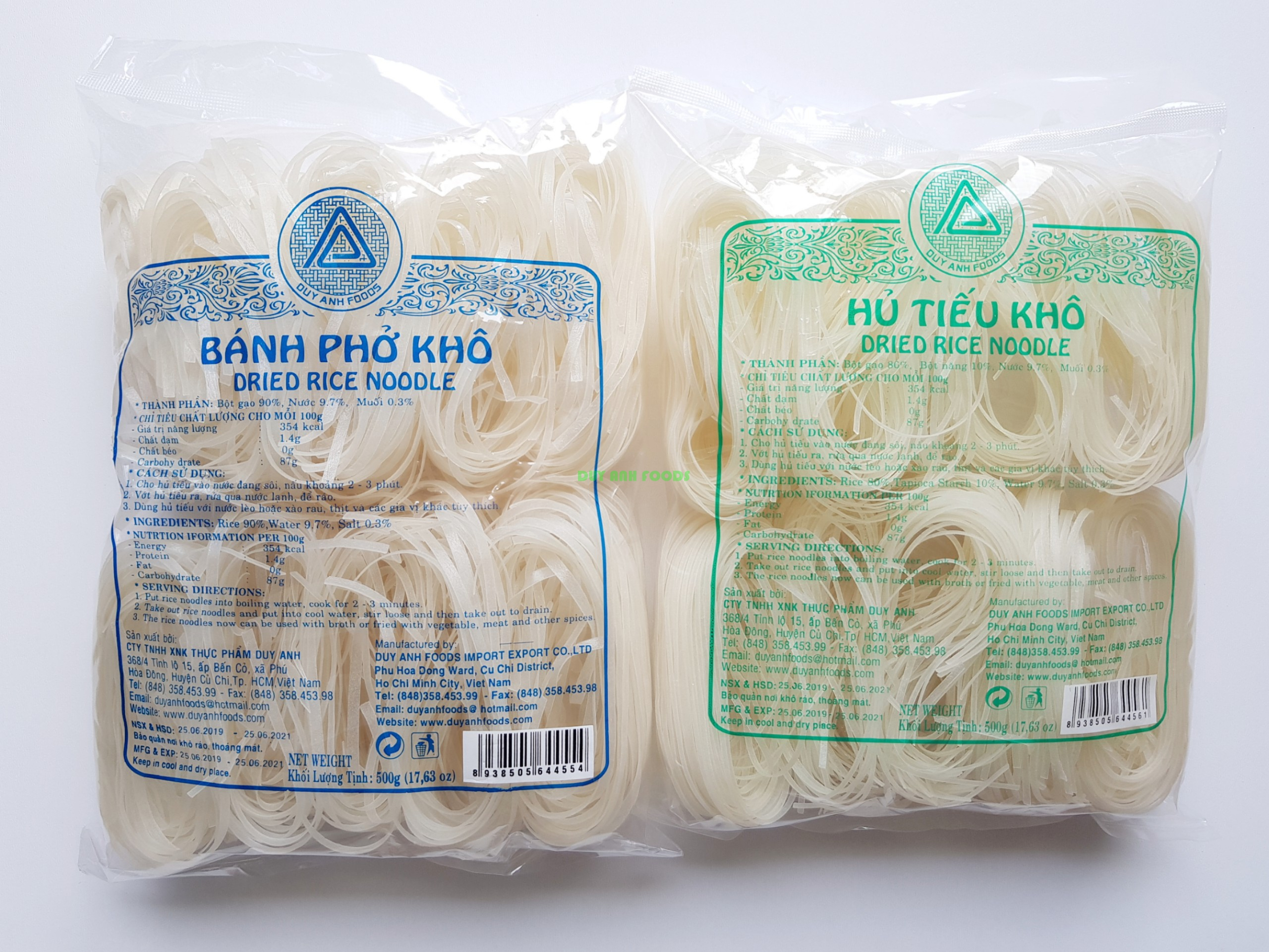 DRIED RICE NOODLE 2mm, 4mm- DUY ANH