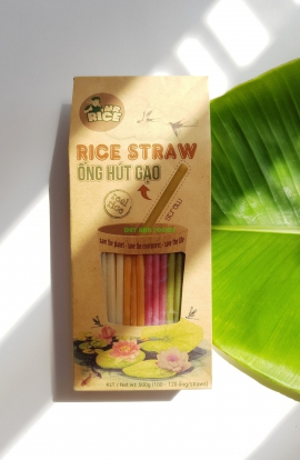 RICE STRAW – MR RICE - MADE FROM 100% PURE RICE - SAVE THE ENVIRONMENT with DUY ANH FOODS!
