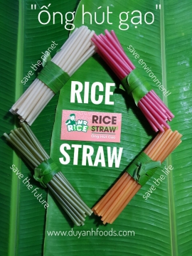 RICE STRAW - Rice Flour Straw - Eco.Friendly Straws Collection - MR RICE