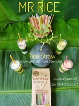 Rice Powder Straws/ Rice Drinking Straws with many color in Vietnam/ Environmental Protection - Mr RICE